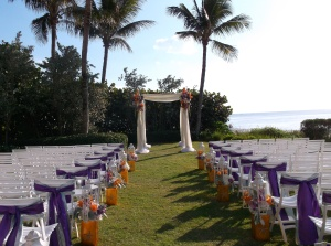 La Playa gulf lawn wedding