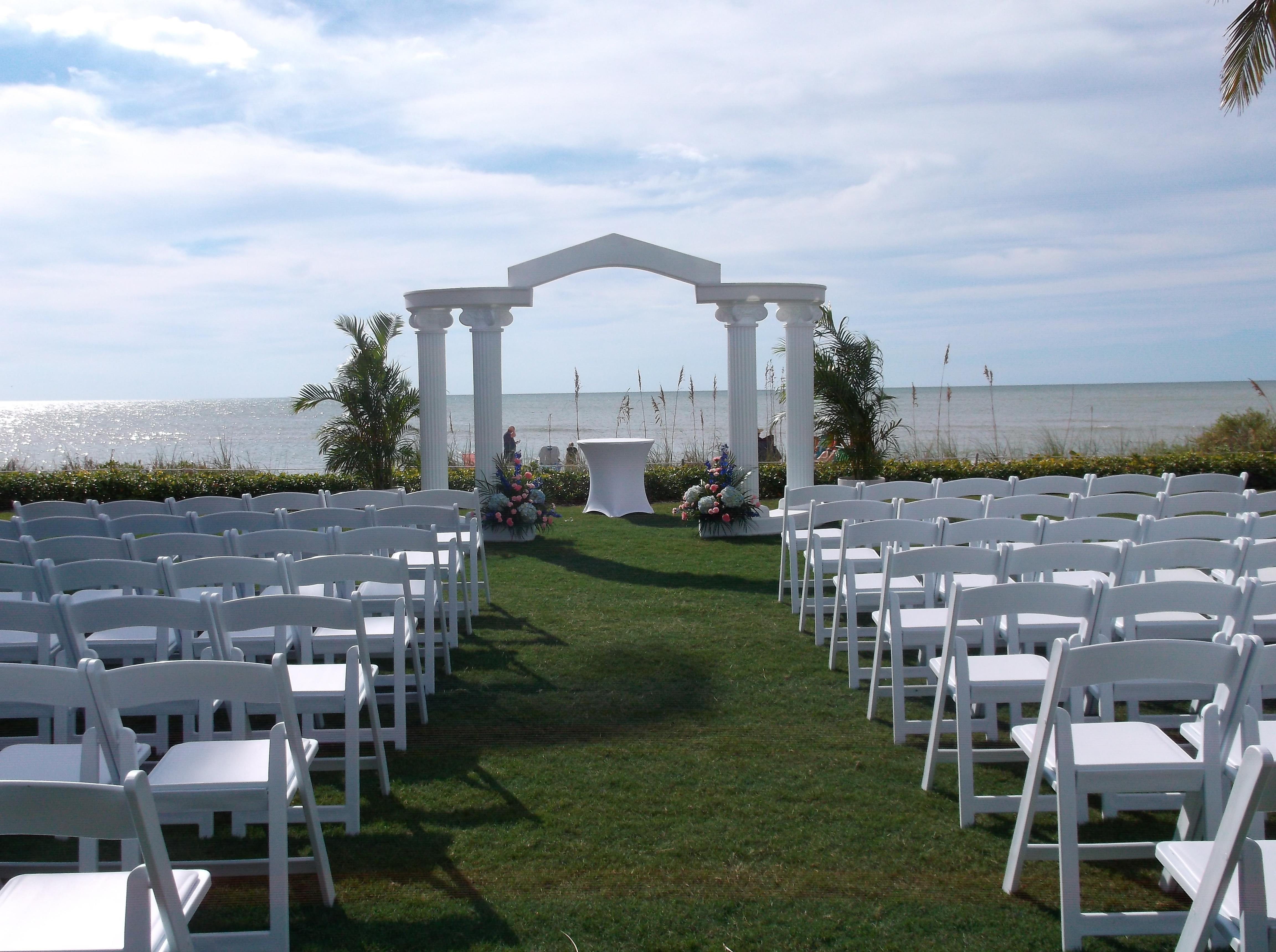 Naples Beach Hotel Wedding Ceremony