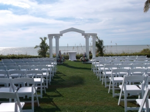 Naples Beach Hotel wedding ceremony