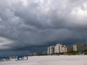 threatening skies on Marco Island