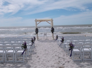 Naples Beach Hotel beach wedding