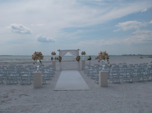 Pink Shell Resort beach wedding