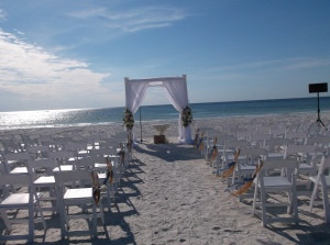 Marco beach wedding