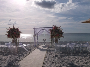 Ritz- Carlton beach wedding