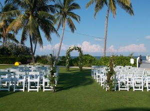 wedding at South Seas